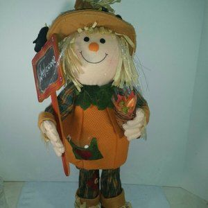 Scarecrow Welcome Sign Plush Figure